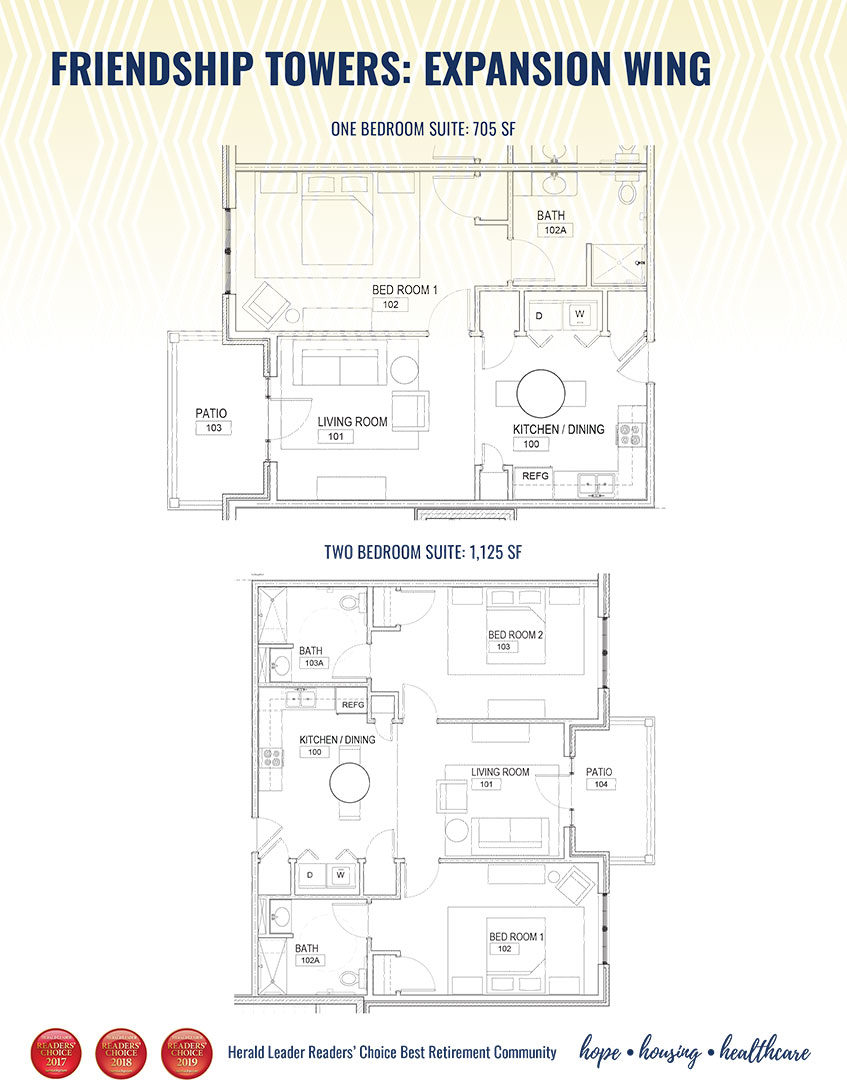 friendship towers - floor plan