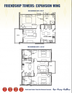 Friendship Towers Expansion Room Layout